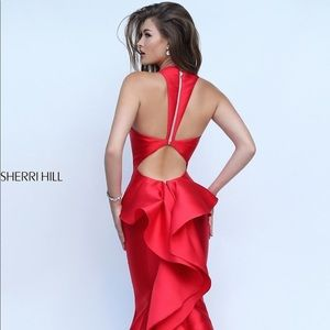 Red size 12 Sherri Hill Dress Gown